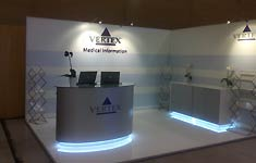 Messestand Vertex Barcelona