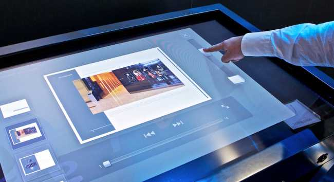 Touch-Tisch USB mieten Touch Table rental Germany interactive Screen Touchscreen 46 inch